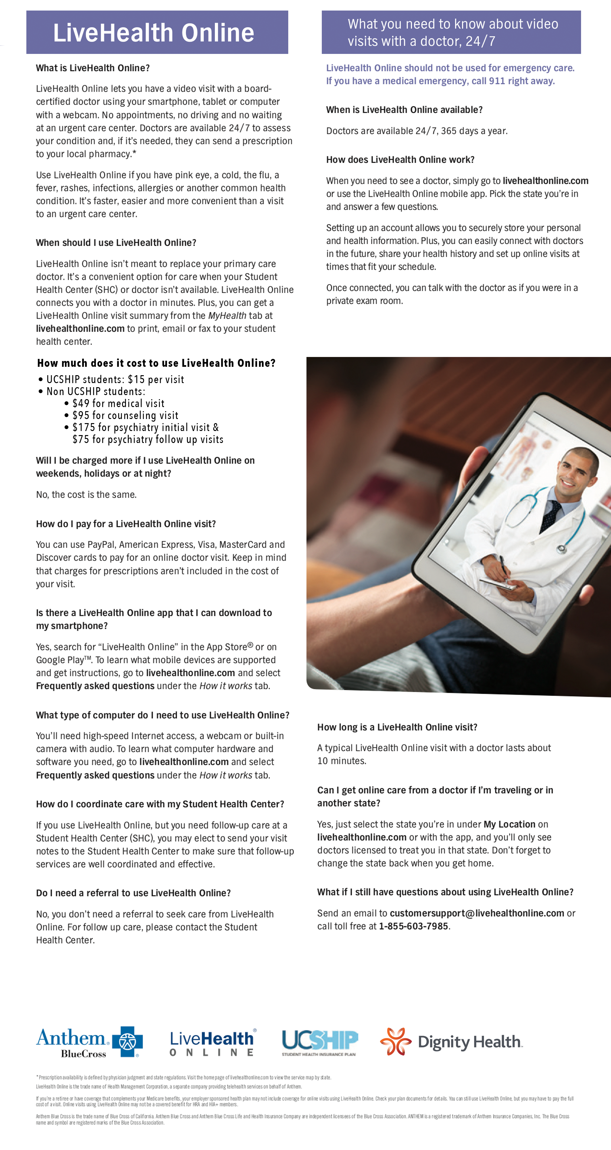 NEW!! LiveHealth Online | Health Services